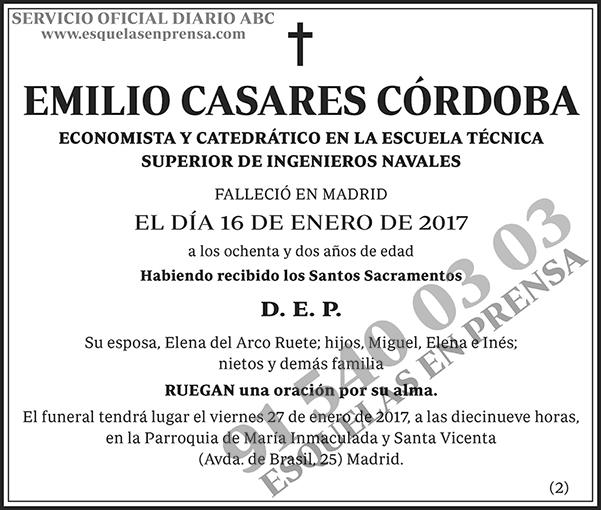 Emilio Casares Córdoba